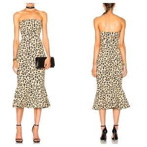 Cinq a Sept Leopard Luna Dress size 0